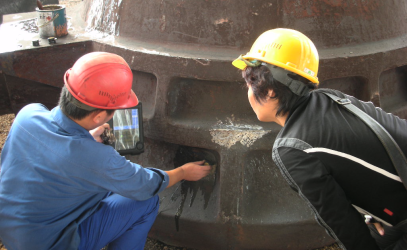 Ultrasonic Testing for Slag Pot